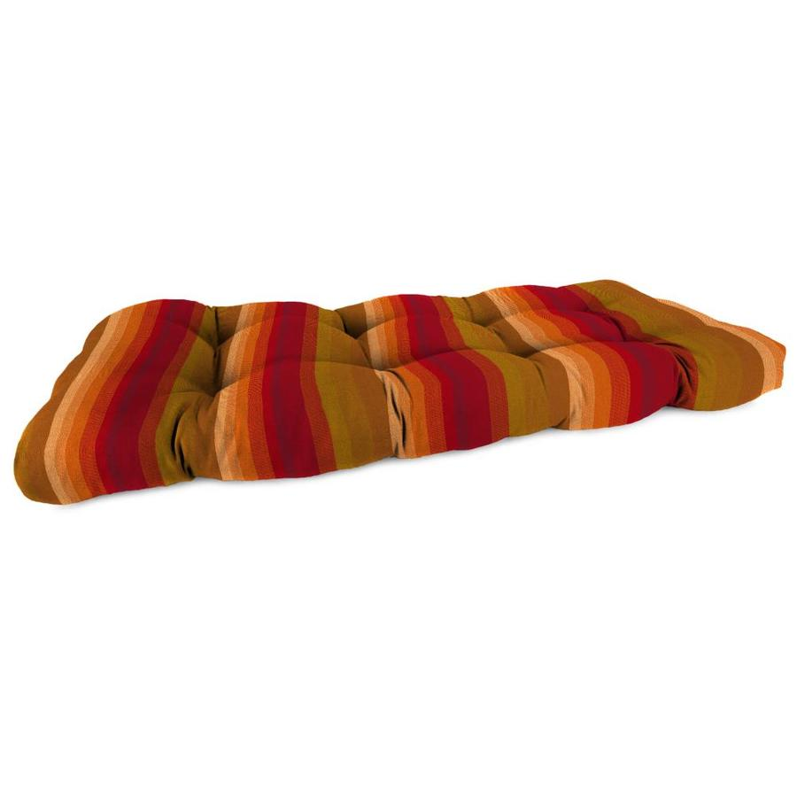 Sunbrella Astoria Sunset Stripe Patio Loveseat Cushion for Loveseat