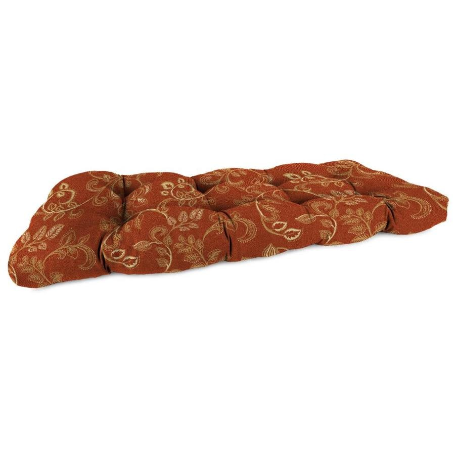 Sunbrella Eureka Henna Paisley Patio Loveseat Cushion for Loveseat