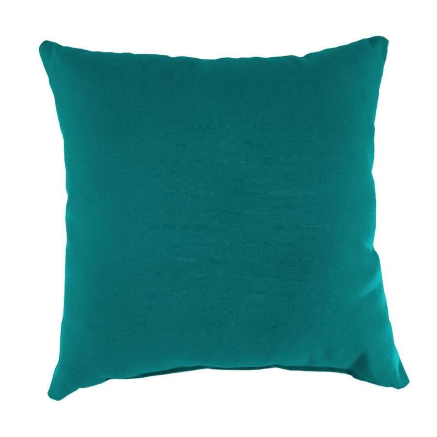 Sunbrella 2-Pack Dupione Deep Sea and Solid Square Throw Pillow Outdoor Decorative Pillow
