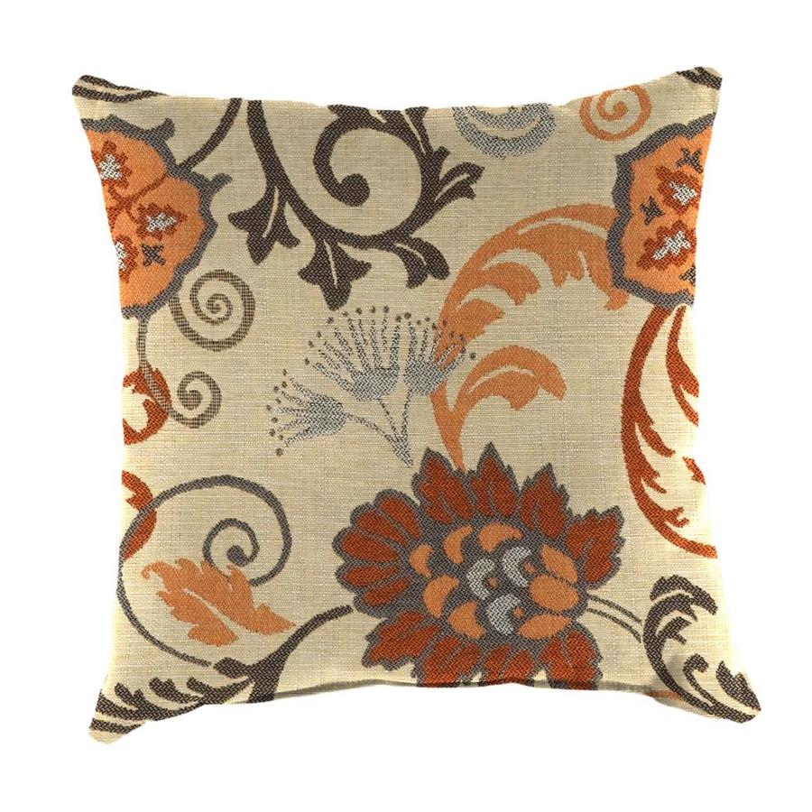 Shop Sunbrella 2-Pack Elegance Marble and Floral Square Throw Pillow Outdoor Decorative Pillow ...
