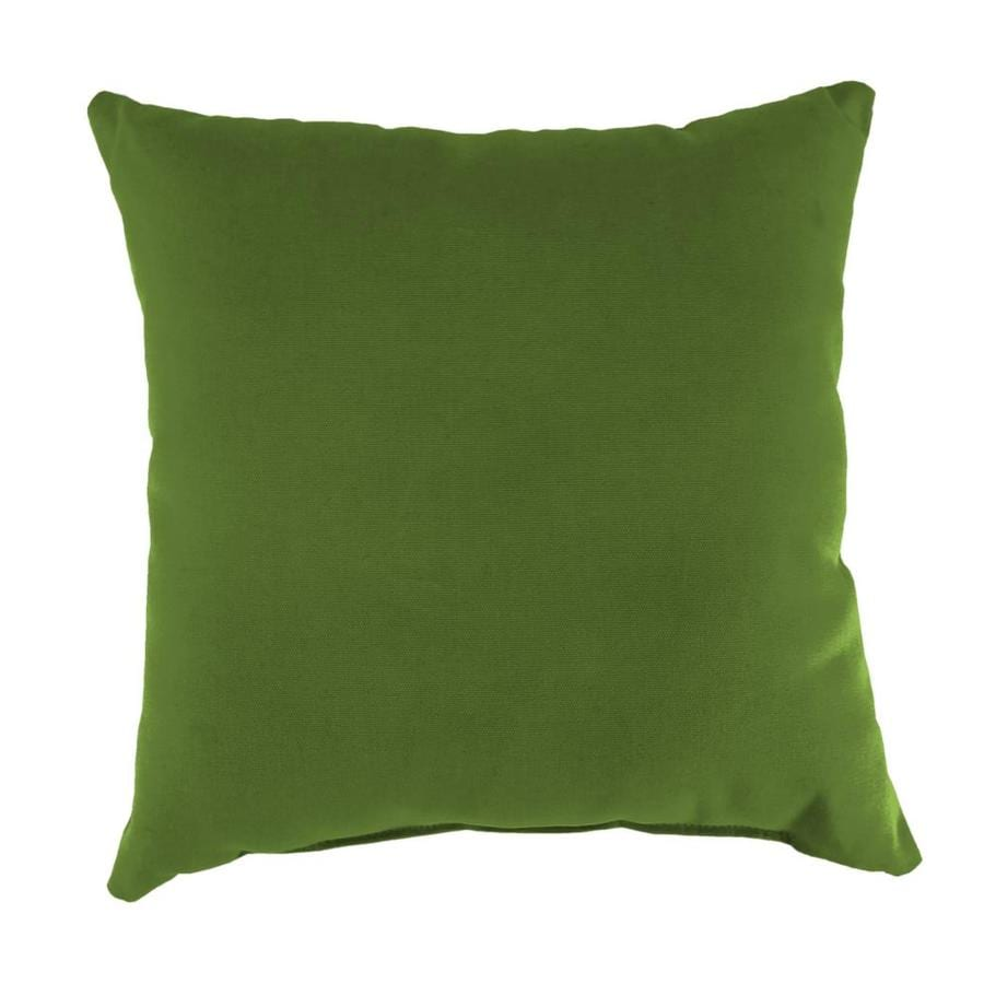 Sunbrella 2-Pack Spectrum Cilantro and Solid Square Throw Pillow Outdoor Decorative Pillow