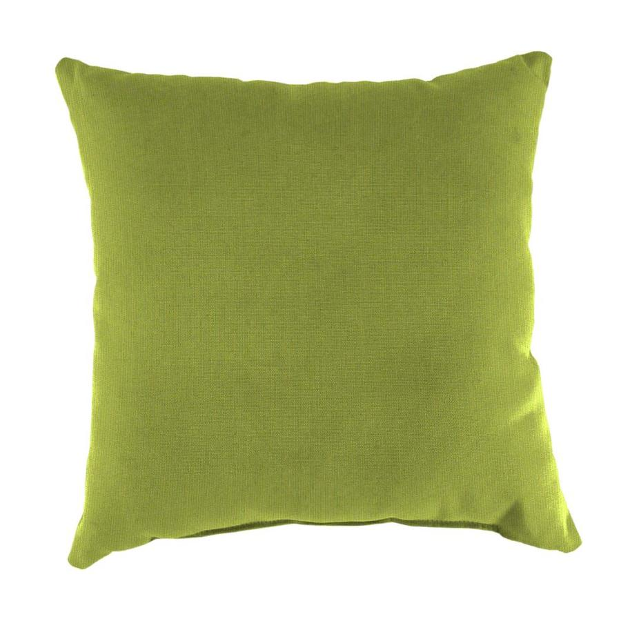 Sunbrella 2-Pack Spectrum Kiwi Solid Square Outdoor Decorative Pillow