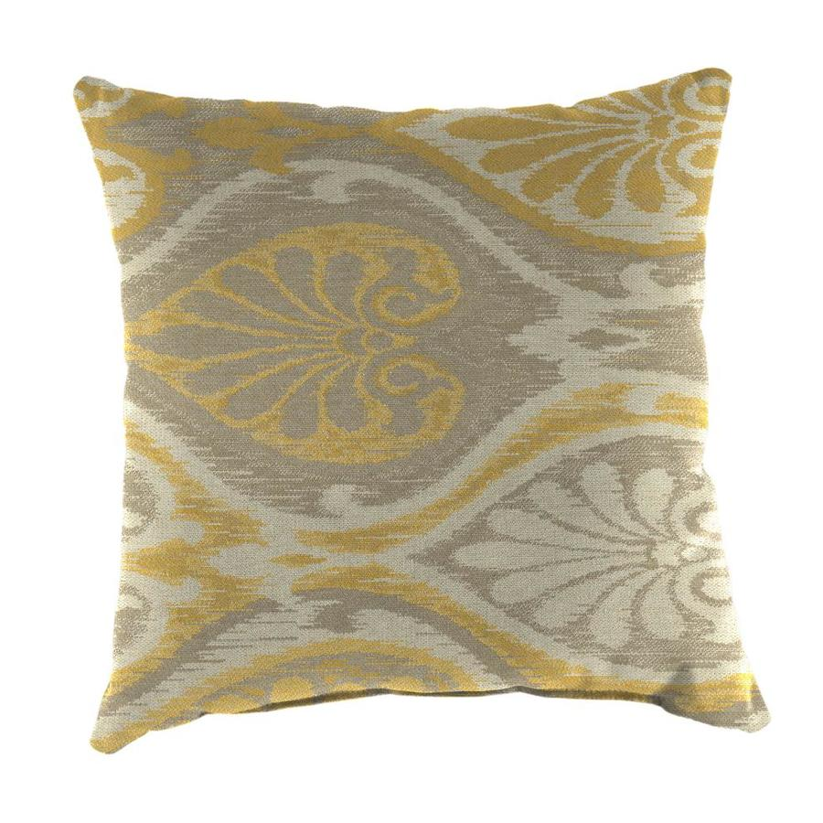 Sunbrella 2-Pack Aura Honey and Paisley Square Throw Pillow Outdoor Decorative Pillow