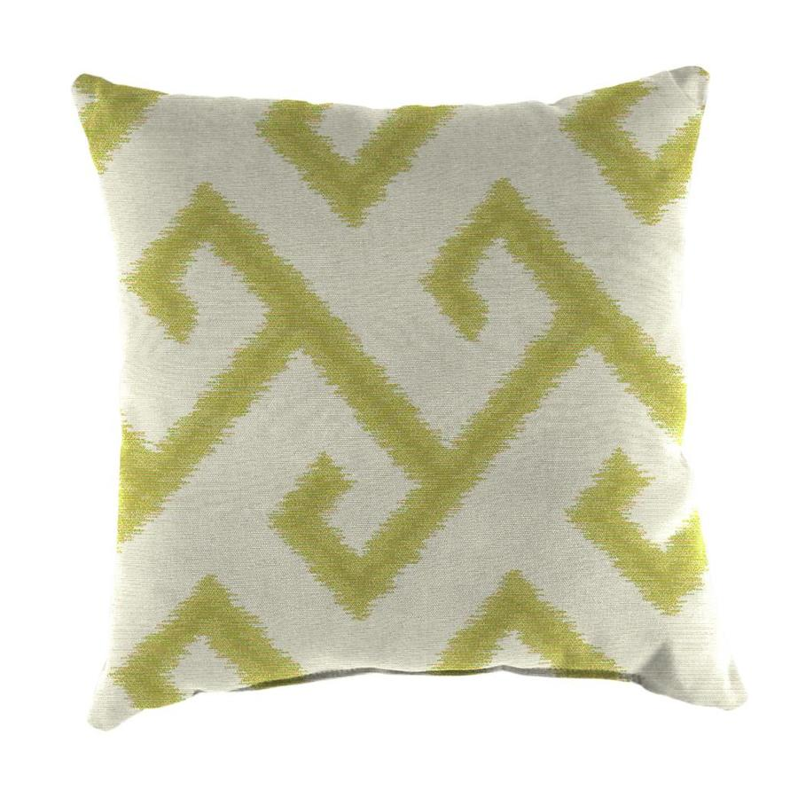 Sunbrella 2-Pack El Greco Avocado Geometric Square Outdoor Decorative Pillow
