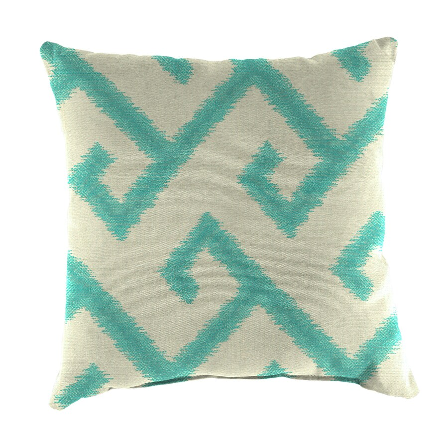 Sunbrella 2-Pack El Greco Calypso and Geometric Square Throw Pillow Outdoor Decorative Pillow