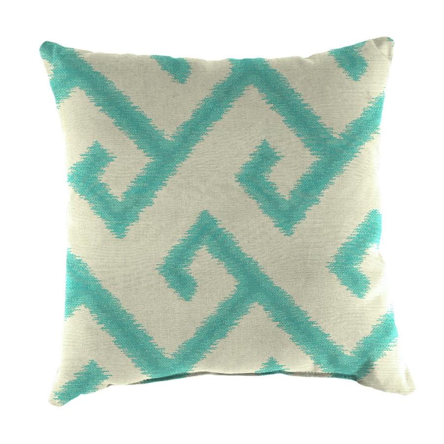 Shop Sunbrella 2-Pack El Greco Calypso and Geometric Square Throw Pillow Outdoor Decorative ...
