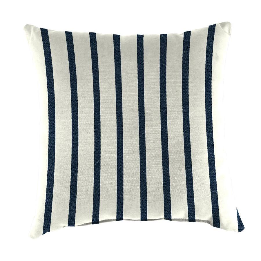 Sunbrella 2-Pack Lido Indigo Stripe Square Outdoor Decorative Pillow