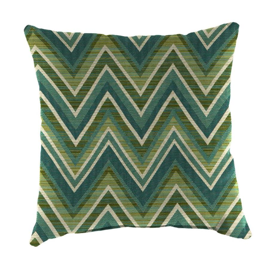 Sunbrella 2-Pack Fischer Oasis and Geometric Square Throw Pillow Outdoor Decorative Pillow