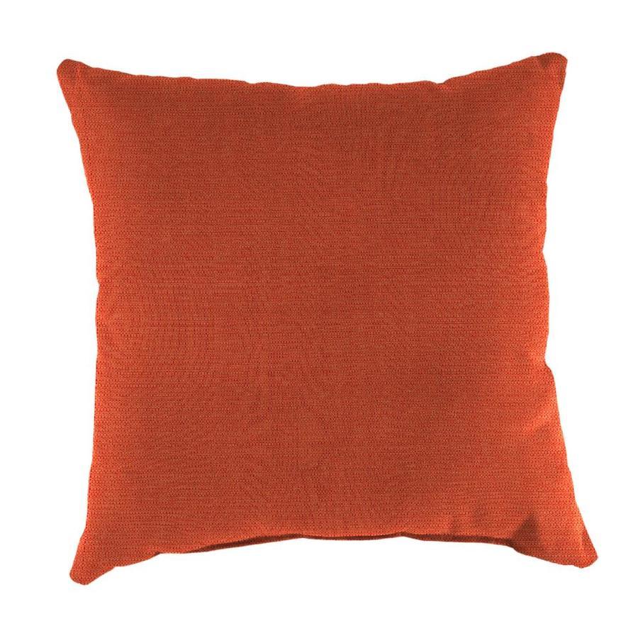 Sunbrella 2-Pack Echo Sangria Solid Square Outdoor Decorative Pillow