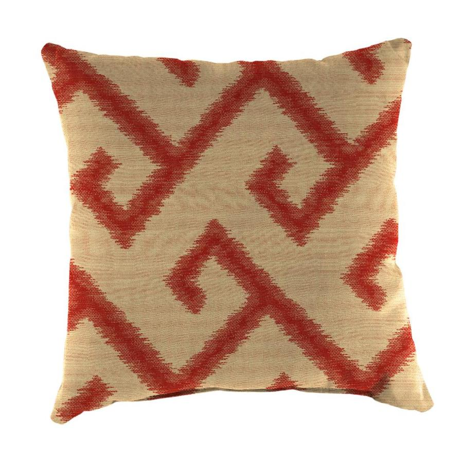 Shop Sunbrella 2-Pack El Greco Chili and Geometric Square Throw Pillow Outdoor Decorative Pillow ...