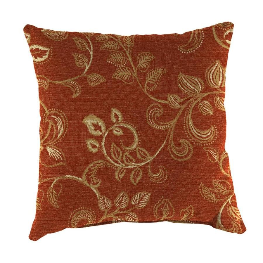 Sunbrella 2-Pack Eureka Henna Floral Square Outdoor Decorative Pillow