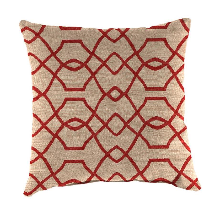 Sunbrella 2-Pack Folio Terracotta Geometric Square Outdoor Decorative Pillow