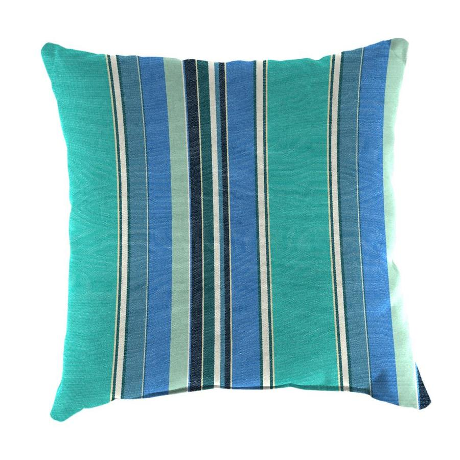 Shop Sunbrella 2-Pack Dolce Oasis and Striped Square Throw Pillow Outdoor Decorative Pillow at ...