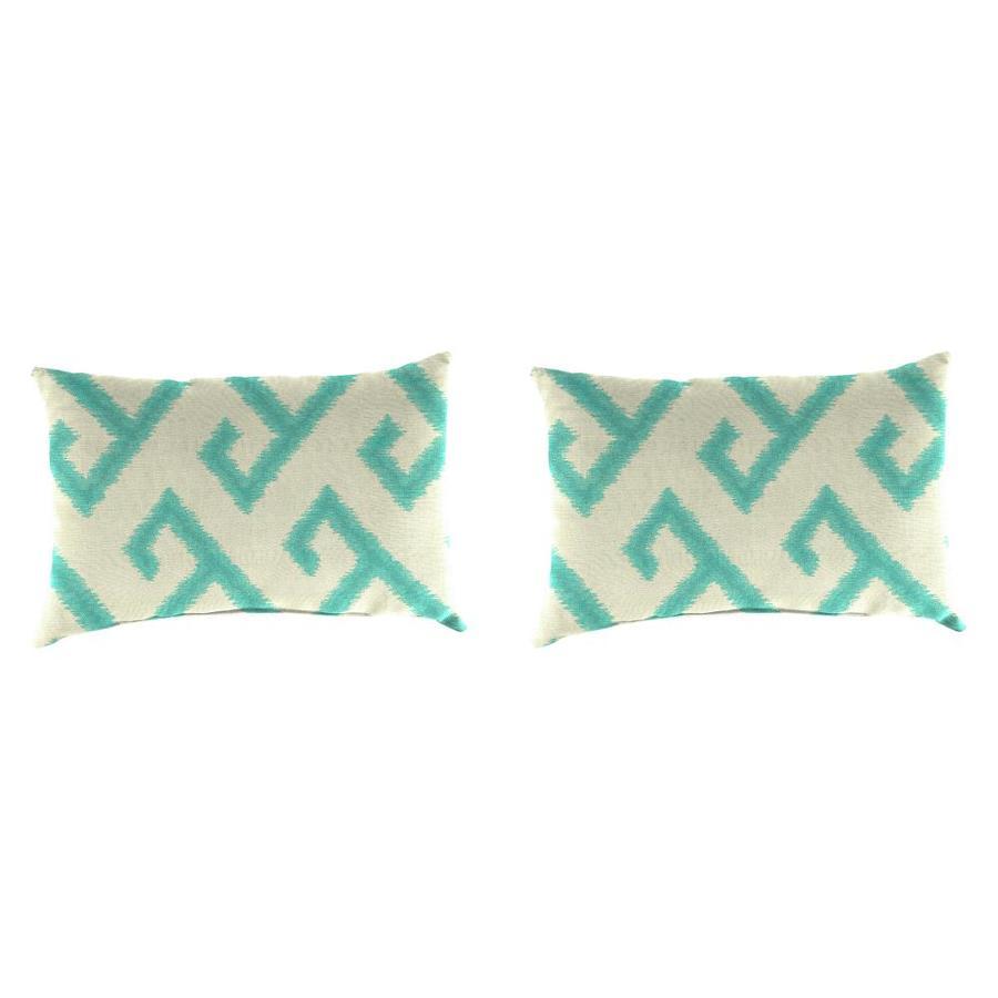 Sunbrella 2-Pack El Greco Calypso Geometric Rectangular Outdoor Decorative Pillow