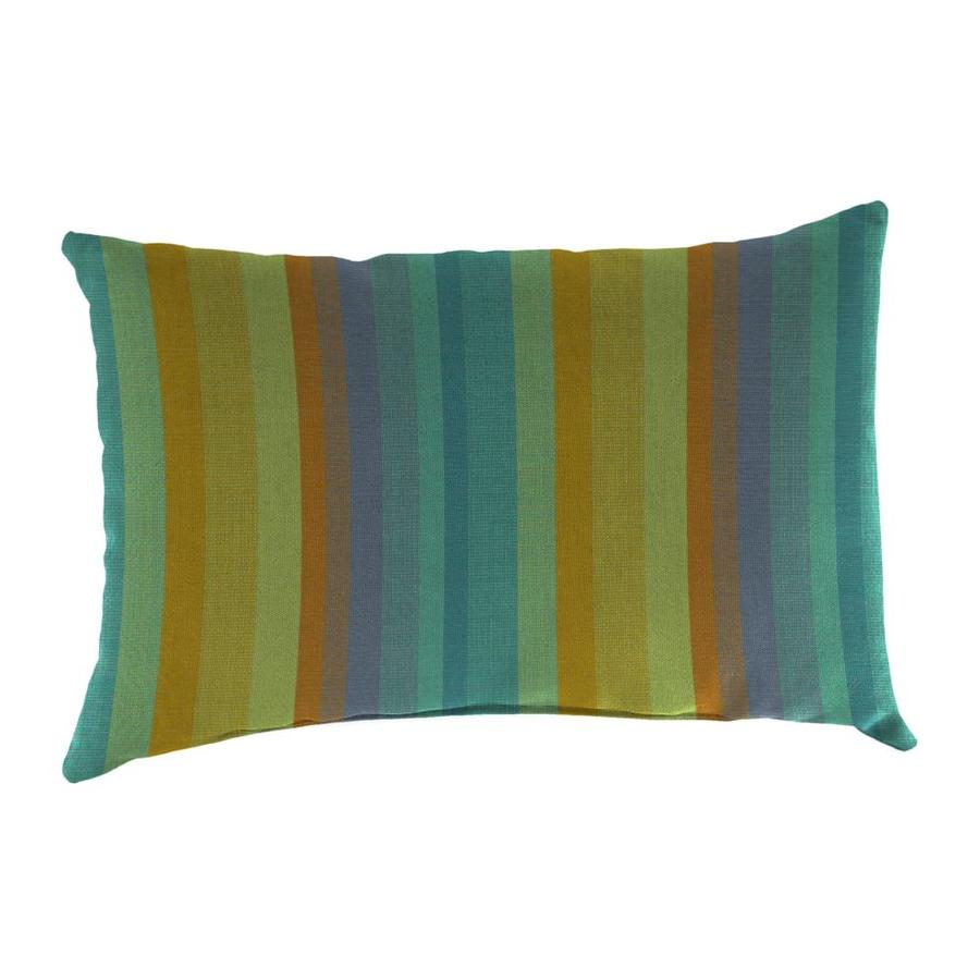 Sunbrella 2-Pack Astoria Lagoon Stripe Rectangular Outdoor Decorative Pillow