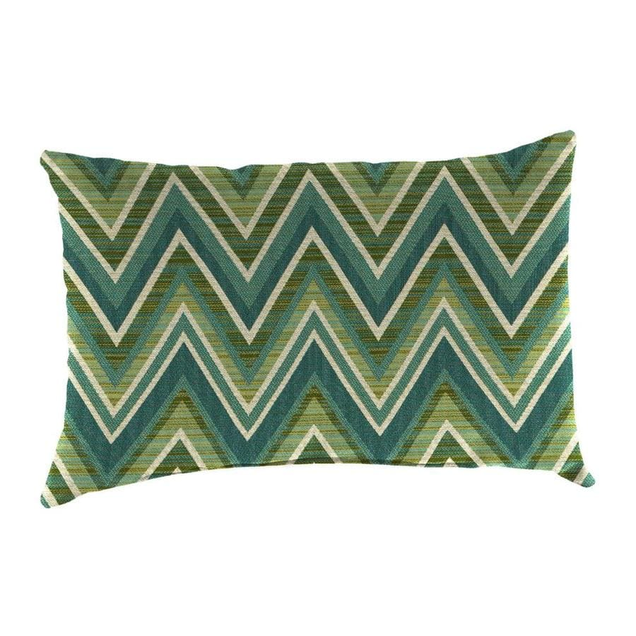 Shop Sunbrella 2-Pack Fischer Oasis and Geometric Rectangular Throw Pillow Outdoor Decorative ...