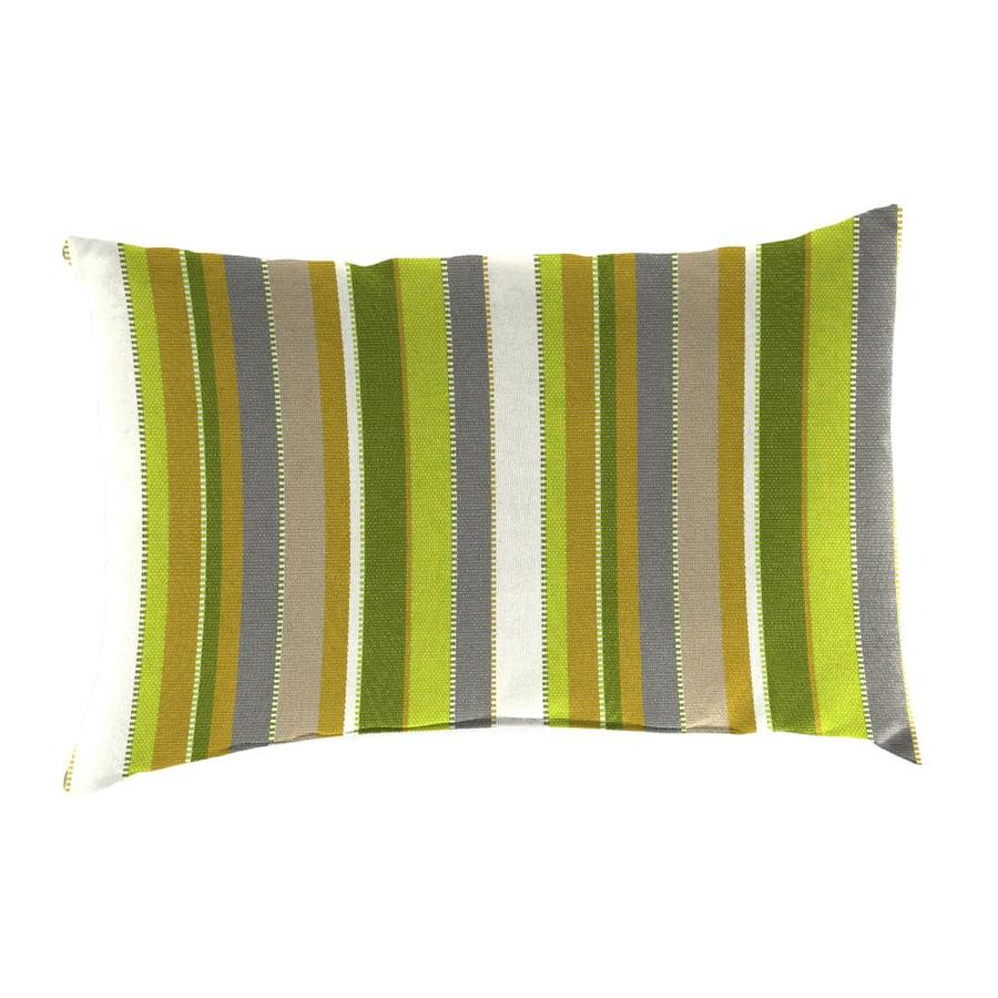 Sunbrella 2-Pack Carousel Limelite Stripe Rectangular Outdoor Decorative Pillow