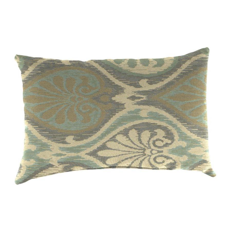Sunbrella Outdoor Decorative Pillows : Shop Sunbrella 2-Pack Aura Seaglass and Paisley Rectangular Throw Pillow Outdoor Decorative ...