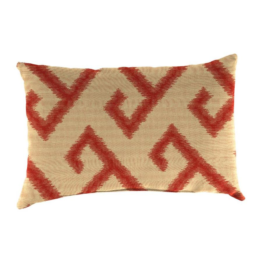 Sunbrella 2-Pack El Greco Chili and Geometric Rectangular Throw Pillow Outdoor Decorative Pillow