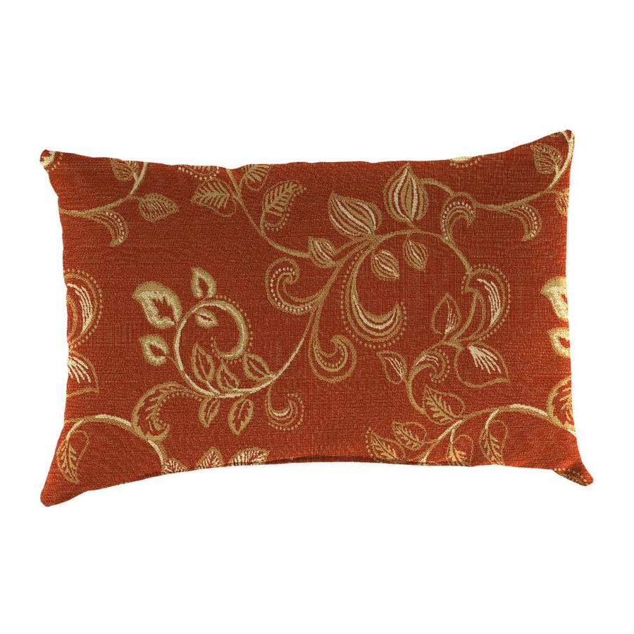 Sunbrella 2-Pack Eureka Henna and Floral Rectangular Throw Pillow Outdoor Decorative Pillow