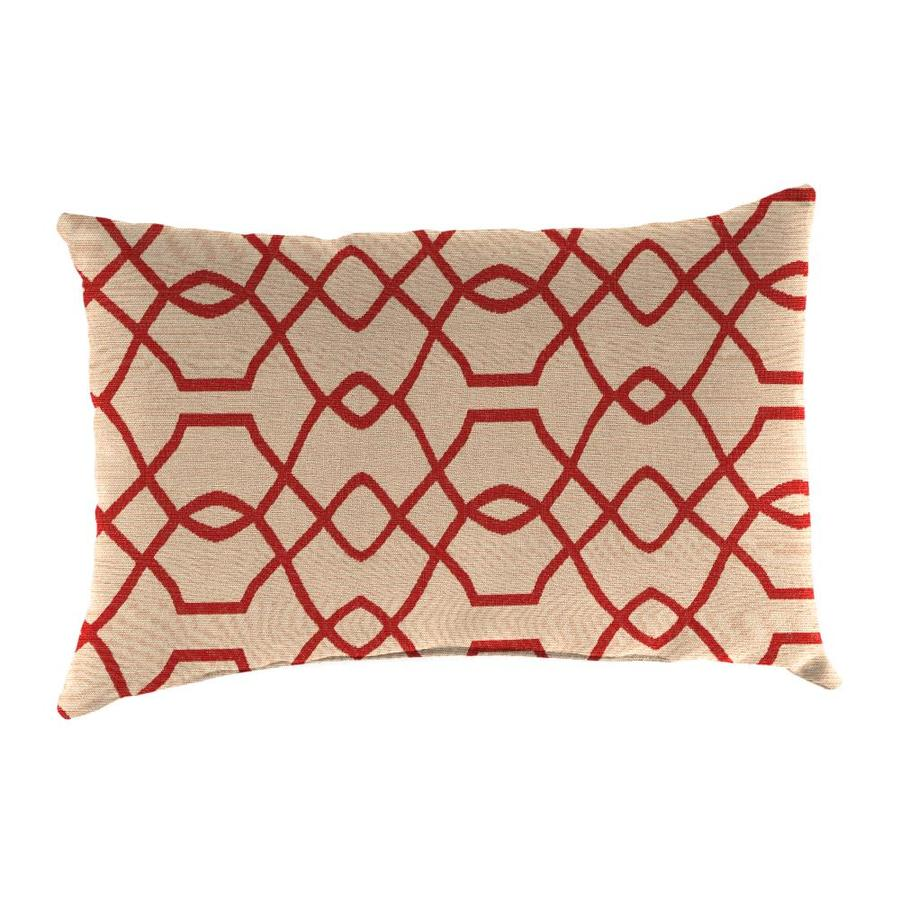 Sunbrella 2-Pack Folio Terracotta Geometric Rectangular Outdoor Decorative Pillow