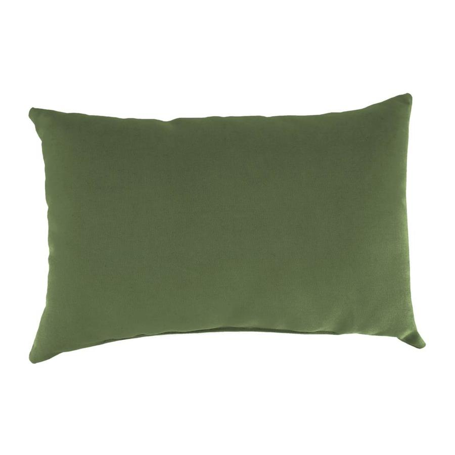 Sunbrella 2-Pack Canvas Fern and Solid Rectangular Throw Pillow Outdoor Decorative Pillow