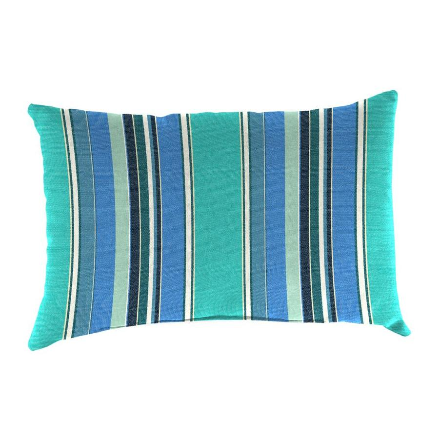Sunbrella 2-Pack Dolce Oasis and Striped Rectangular Throw Pillow Outdoor Decorative Pillow