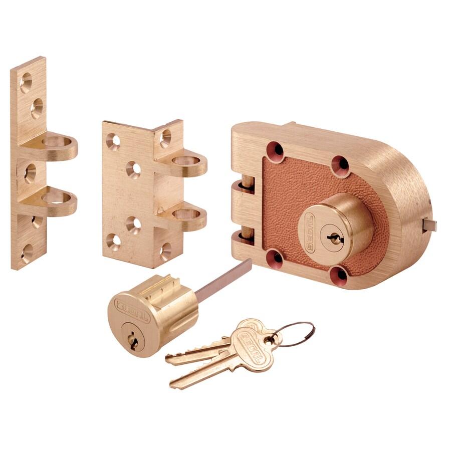 Prime-Line Segal Brass Double-Cylinder Deadbolt