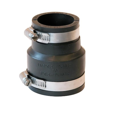 Fernco 2-in x 1 84-in dia Flexible PVC Coupling Fittings at