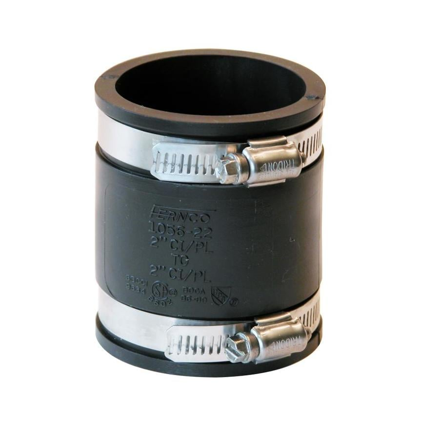 Shop Fernco 2 In Dia Flexible Pvc Coupling Fittings At