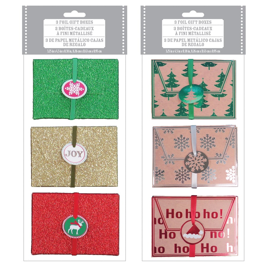 Creative Presence 3-Pack Christmas Paper Gift Bags (Assorted)