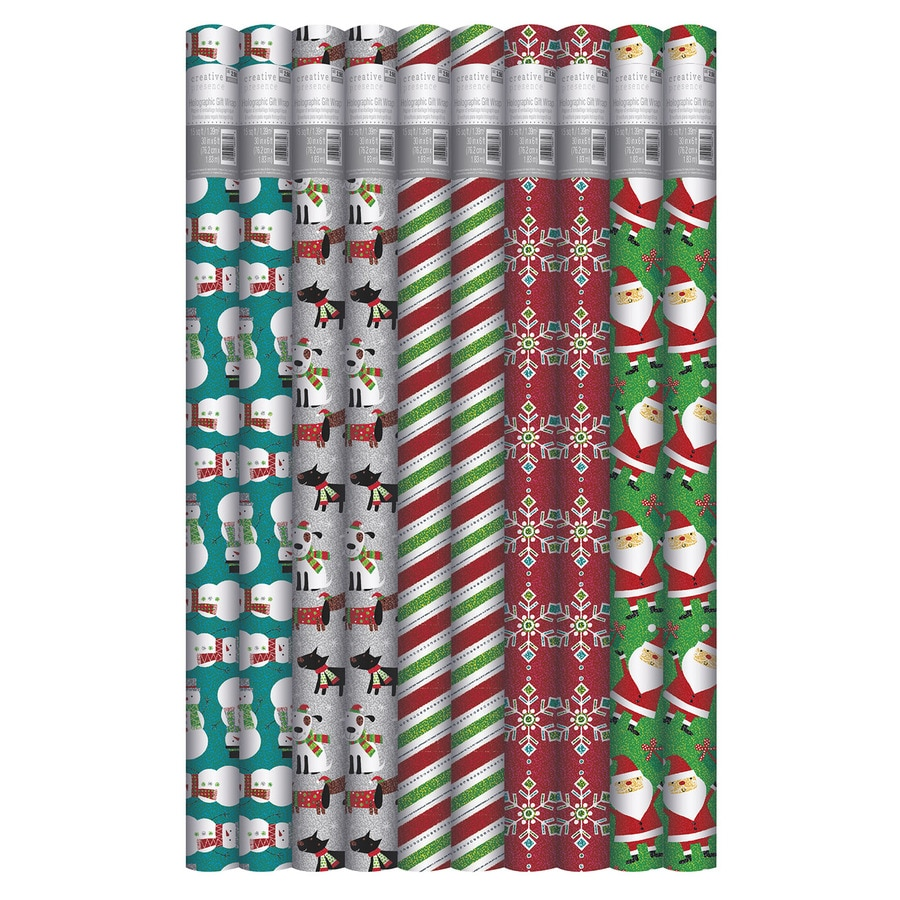 Creative Presence Assorted 2.5-ft x 6-ft Christmas Wrapping Paper