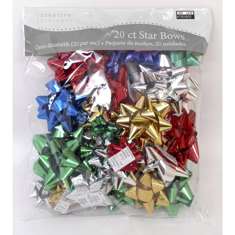 Creative Presence 20-Pack Assorted Any Occasion Star Gift Bows
