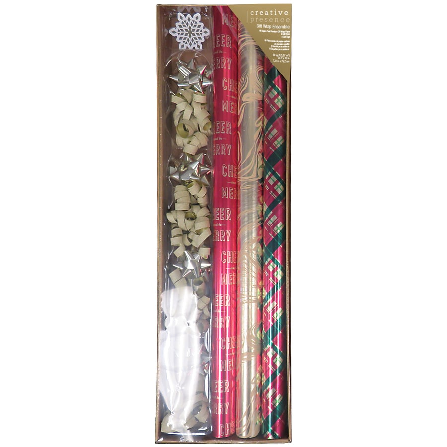 Creative Presence 2-ft x 24-ft Christmas Wrapping Paper