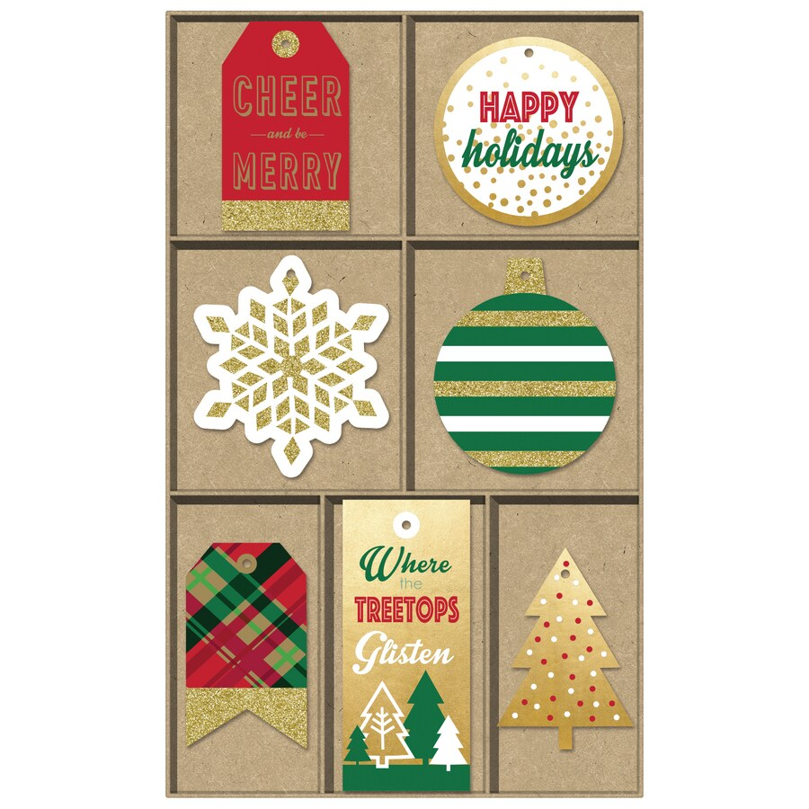 Creative Presence 21-Pack Assorted Christmas Non-adhesive Gift Tag