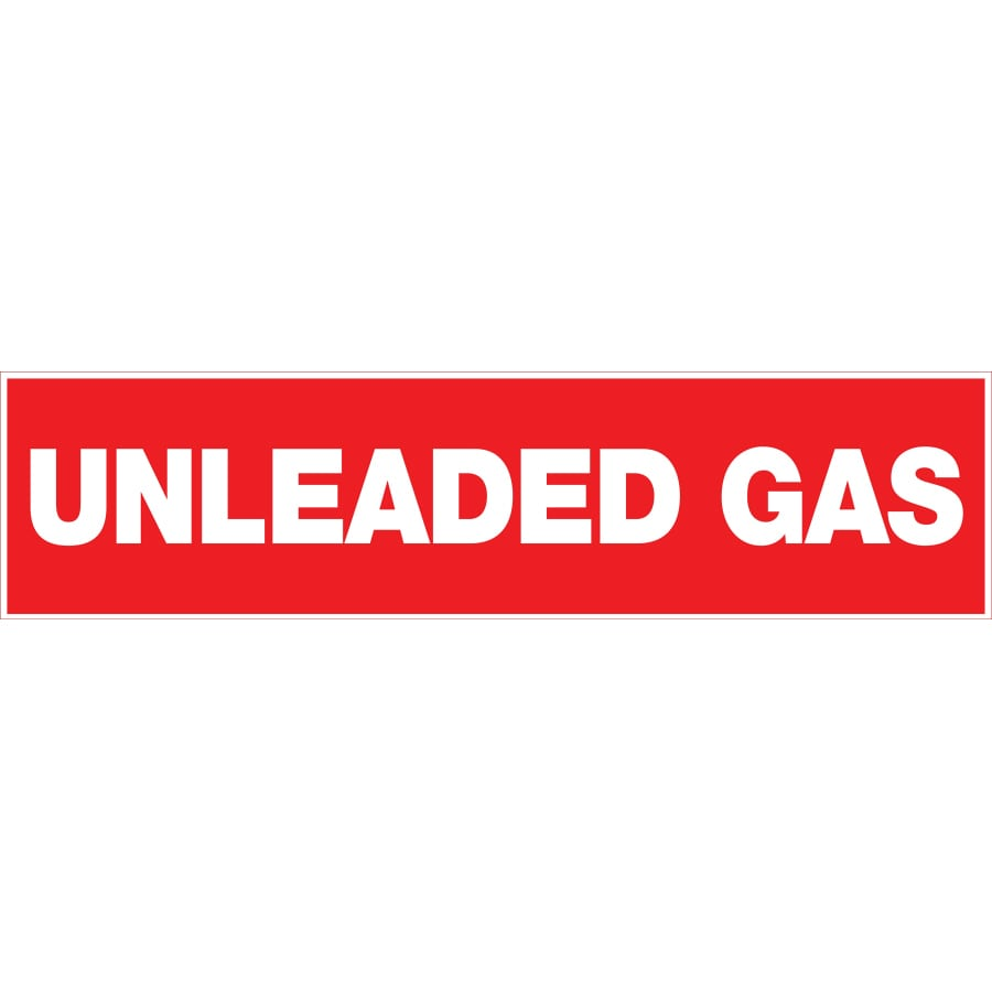 Shop The Hillman Group 2 In X 8 In Unleaded Gas Sign At