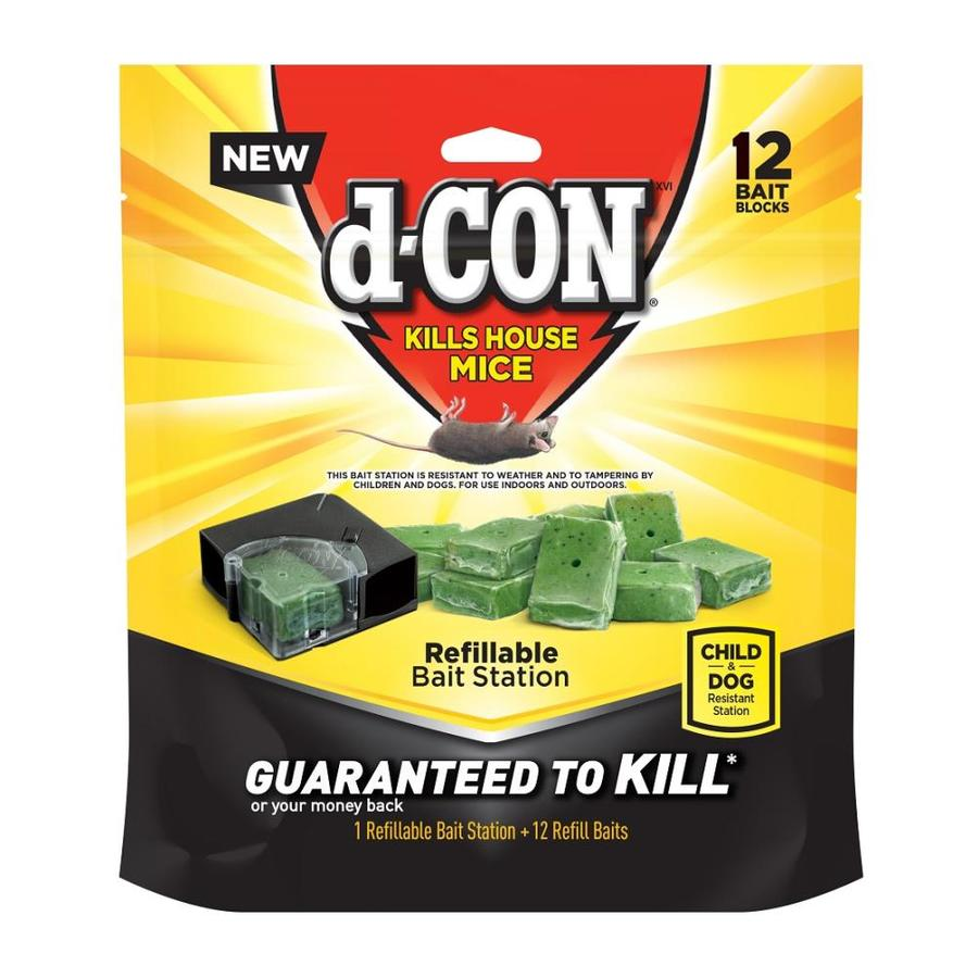 D Con 12 Count Mouse Bait Station In