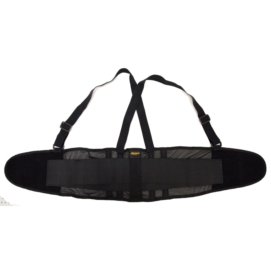 AWP Extra-Large Polyester Hook-n-Loop Back Support