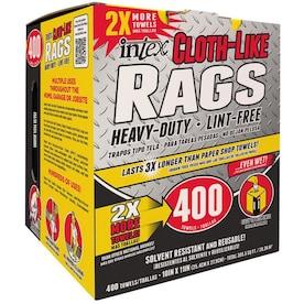 Intex Roll Towels 400-Pack Natural Fiber Blend Cloth