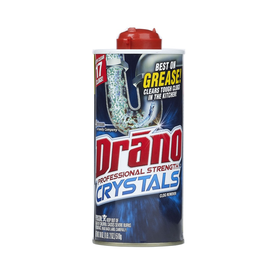 Shop Drano 18 Oz Drain Cleaner Crystals At Lowes Com