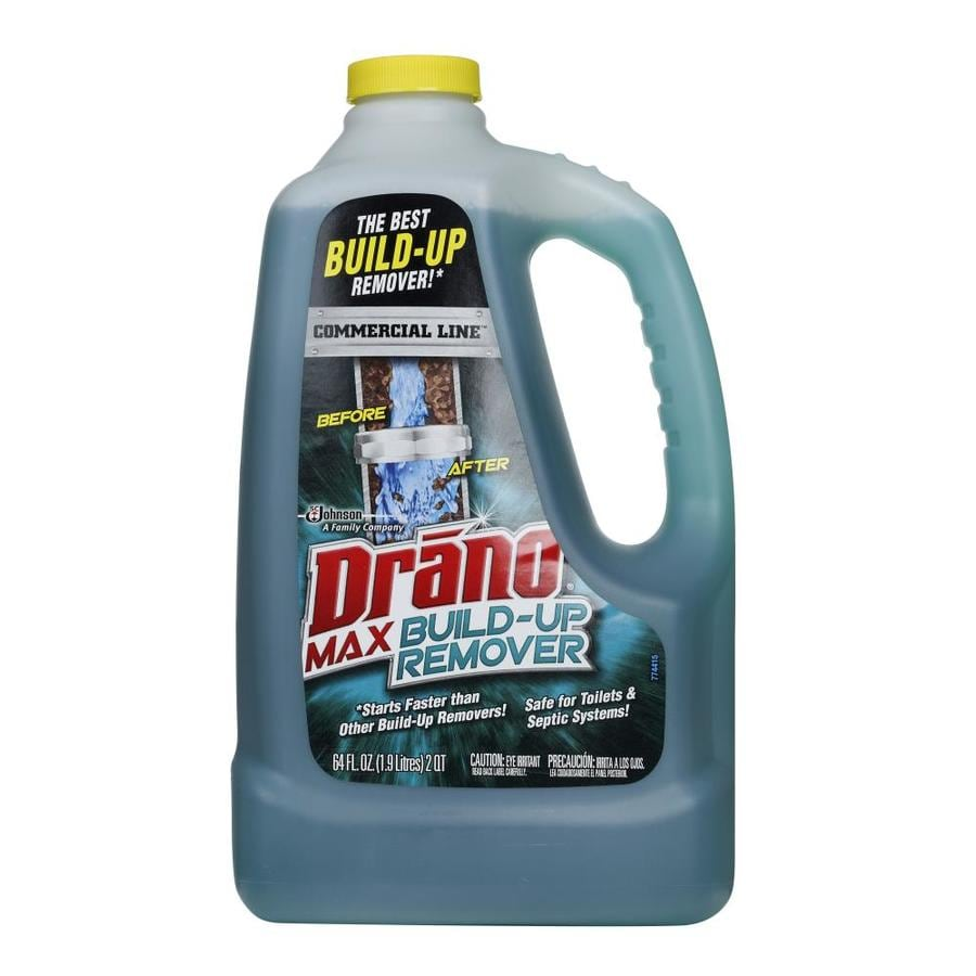 Shop drano 64 fl oz drain cleaner pour bottle at for A bathroom item that starts with n