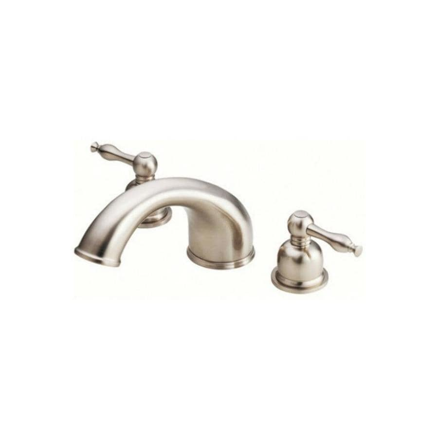 Danze Sheridan Brushed Nickel 2-Handle Adjustable Deck Mount Bathtub Faucet