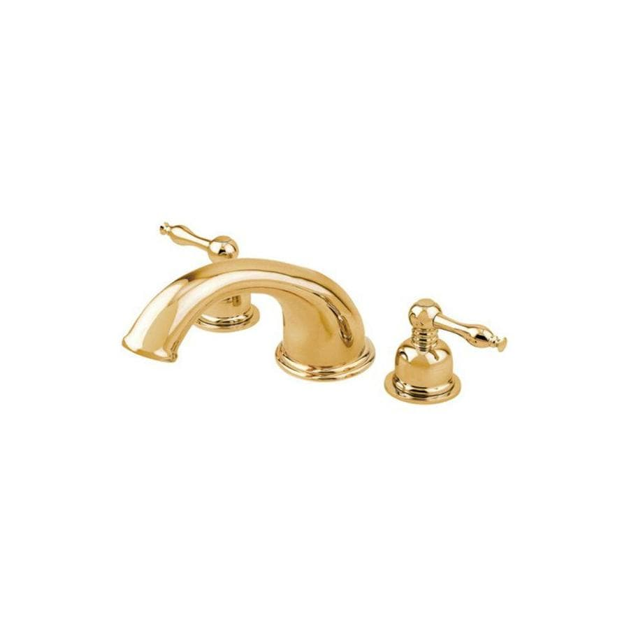 Danze Sheridan Polished Brass 2-Handle Adjustable Deck Mount Tub Faucet