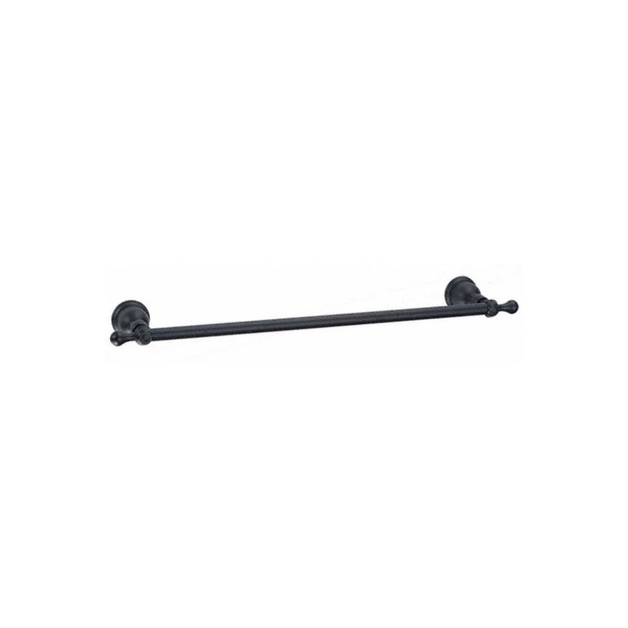 Danze Opulence Satin Black Single Towel Bar (Common: 24-in; Actual: 27.25-in)