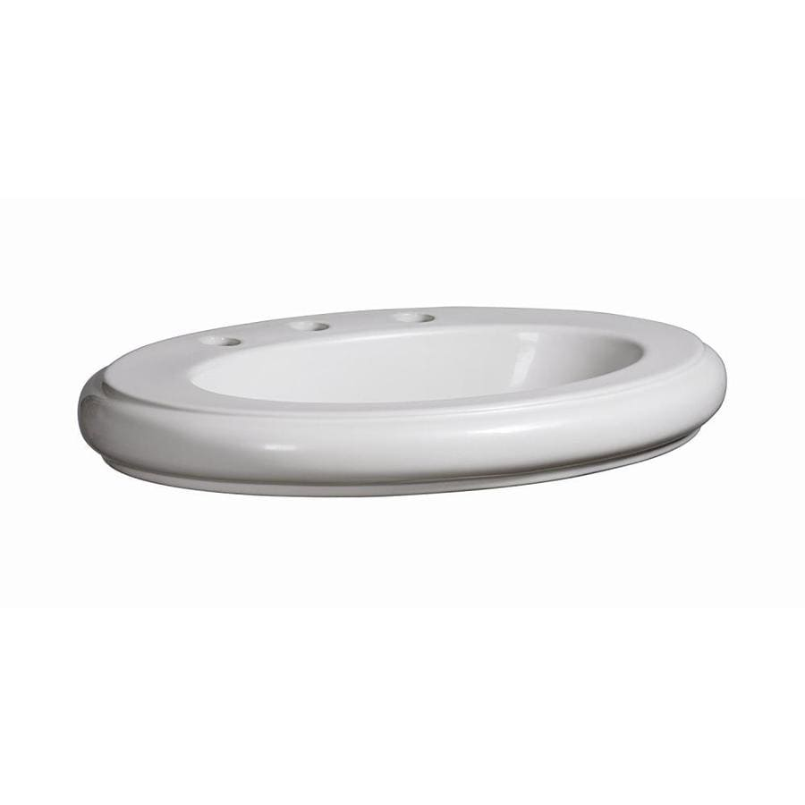 Danze Orrington White Vessel Oval Bathroom Sink with Overflow