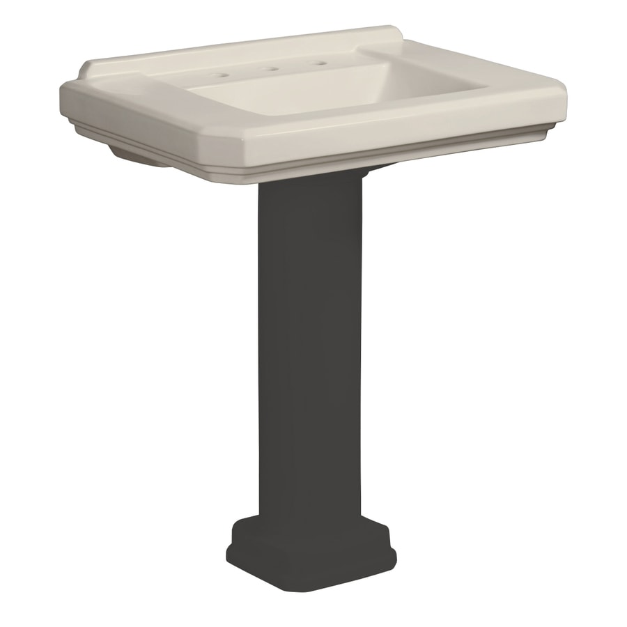 ... .75-in L x 21.25-in W Biscuit Vitreous China Square Pedestal Sink Top