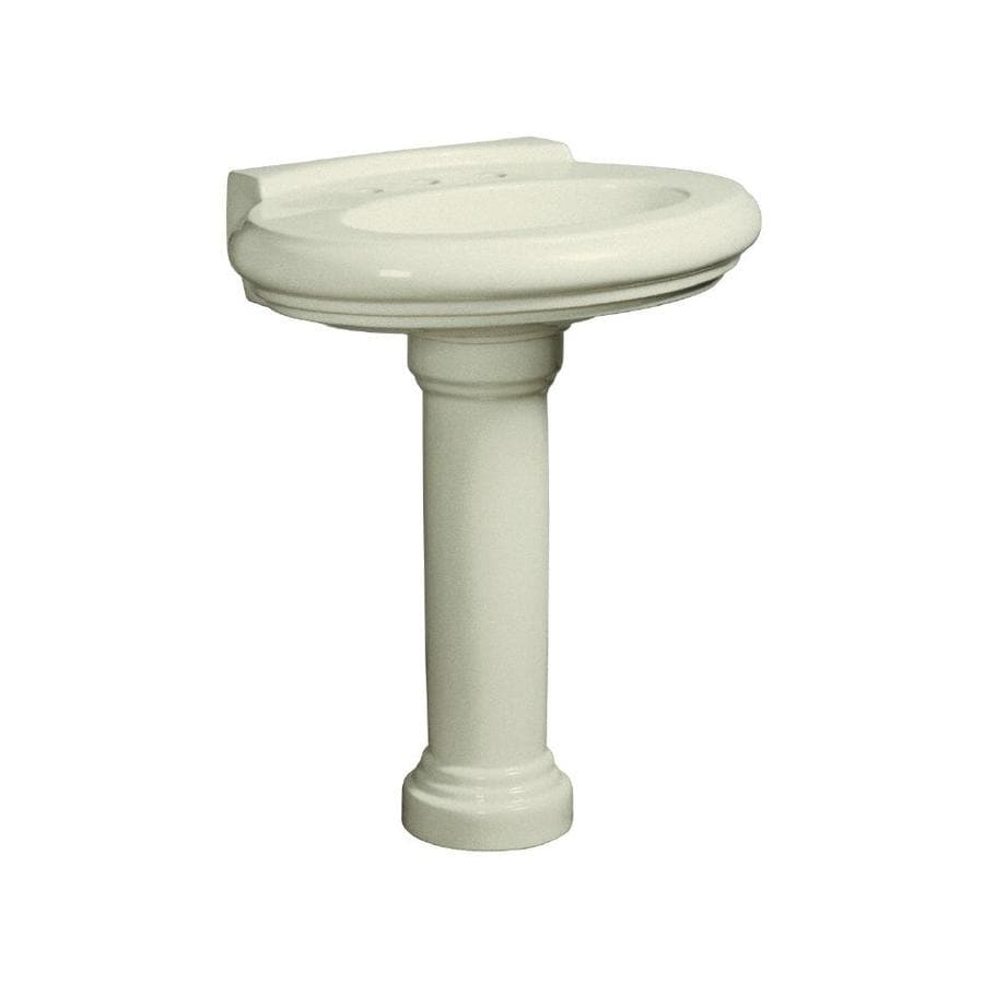Danze Orrington 28.125-in H Biscuit Vitreous China Pedestal Sink Base