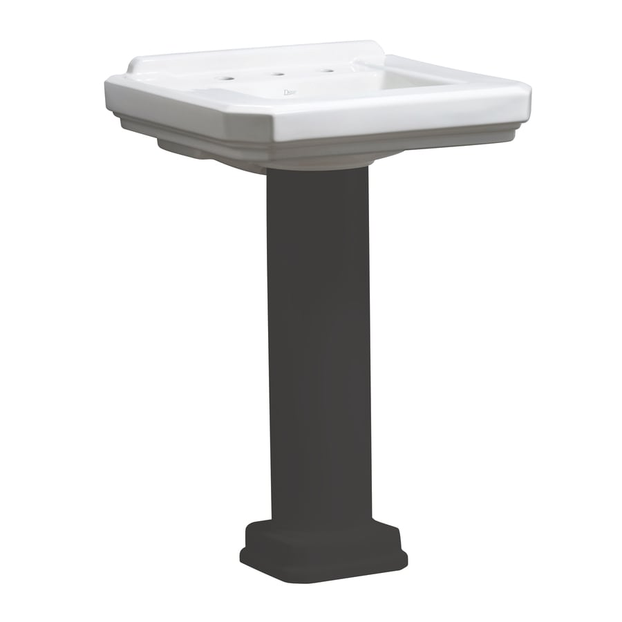 Danze Cirtangular 21.625-in L x 25.25-in W White Vitreous China Square Pedestal Sink Top