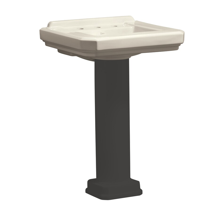 Danze Cirtangular 21.625-in L x 25.25-in W Biscuit Vitreous China Square Pedestal Sink Top