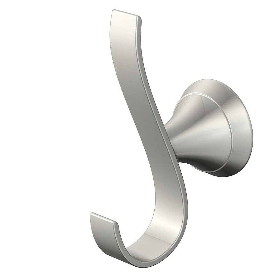 Jacuzzi Lyndsay 2-Hook Brushed Nickel Towel Hook